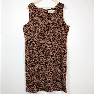 Kathie Lee Collection Dress Leopard Animal Print